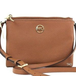 Michael Kors Fulton crossbody purse - tan